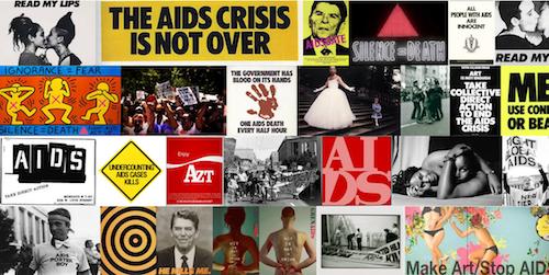 ImageQuilt of AIDS activist art made using ImageQuilt Chrome Extension.