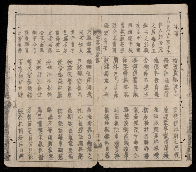 Facing pages from The Tale of Kieu, a Vietnamese epic poem written in chữ Nôm script.